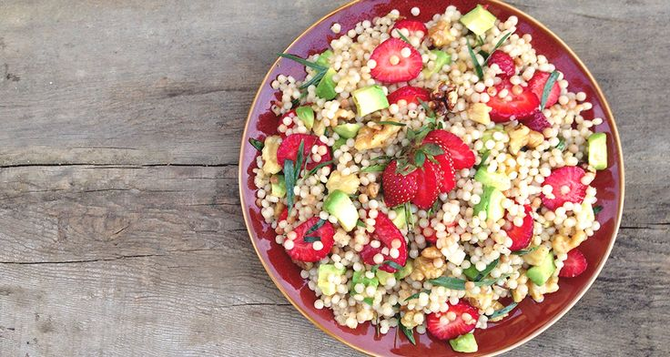 Salad Stunner: Strawberry, Avocado, Fennel, Israeli Couscous Dish of ...
