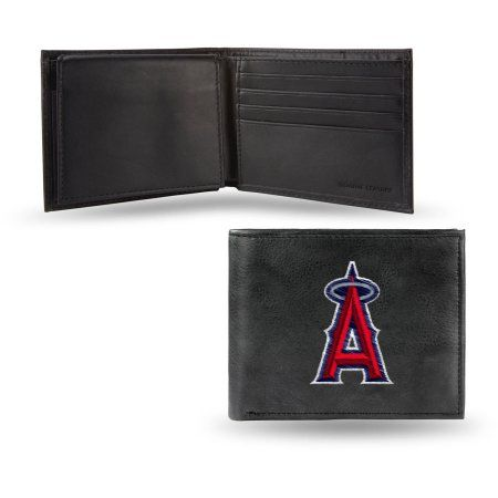 MLB - Men's Los Angeles Angels Embroidered Billfold Wallet, Grey