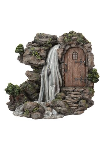 Just imagine your fairy coming out of her front door and crossing a wooden…
