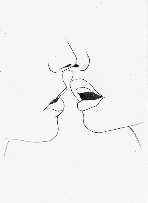 Line Drawing Kiss : Ideas about simple line drawings on pinterest