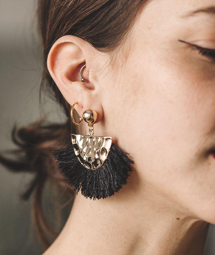 Fan Tassel Earrings by myfashionfruit.com