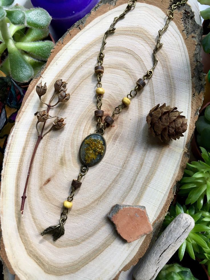 Forest necklace, Forest jewelry, Witchcraft jewelry, Mistery wood, Witchy jewelry