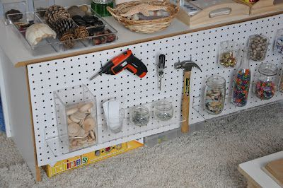 I like the diplay of tools it is letting the children see how tools are looked after and put in correct places