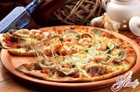 Пицца с морепродуктами – готовим дома