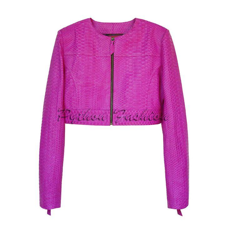 Купить Летняя куртка из кожи питона RIMINE - кожа питона, из питона, из кожи питона, питон