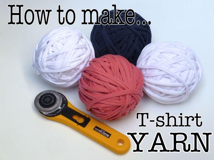 How to make T-shirt yarn
