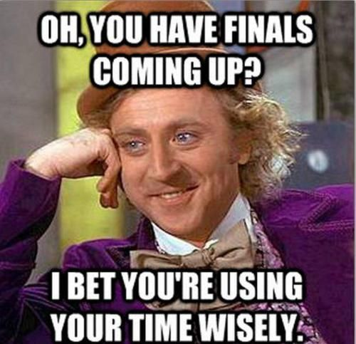 so true of me... look at me getting pintrest quotes ABOUT finals week rather than actually doing anything for finals week