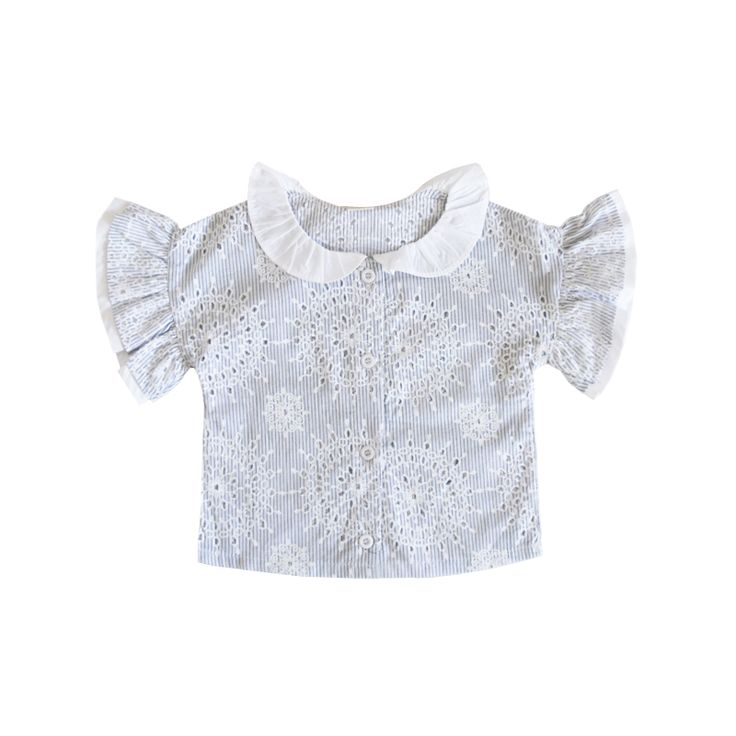 Micca romantic broderie anglaise blouse