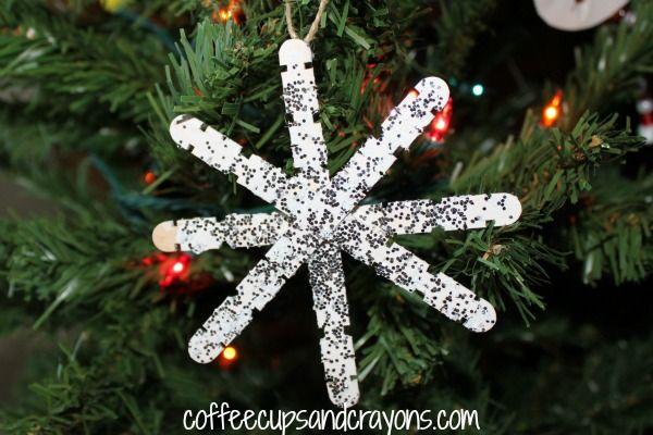 Christmas Kids Craft Homemade Snowflake Ornaments Kids