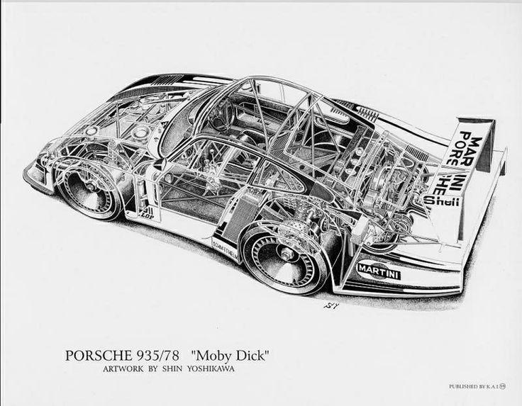 porsche 935 - Moby Dick schematic