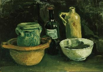Still Life - Vincent van Gogh, 1884. The Norton Simon Foundation, Pasadena, CA. Having run out of money and job prospects, in late 1883 Vincent van Gogh moved in with his recently relocated family. His residence in the small village of Nuenen, in the southern Netherlands, was not as cloistered as one would expect for a 30-year-old who had lived over the past decade in such cities as Paris, Amsterdam and London. In fact, in Neunen van Gogh found a small group of artists to instruct in…
