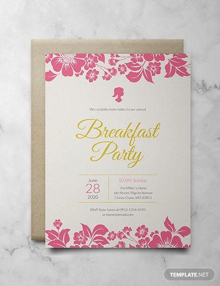 Free Ladies Breakfast Invitation Divine Invitations Templates