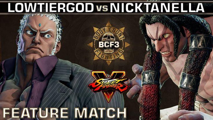 Street Fighter 5 - LowTierGod (Ed, Urien) vs. NickTanella (Necalli) - BCF3 Feature Match https://www.youtube.com/watch?v=vWVqg-oiQPQ&t=25s