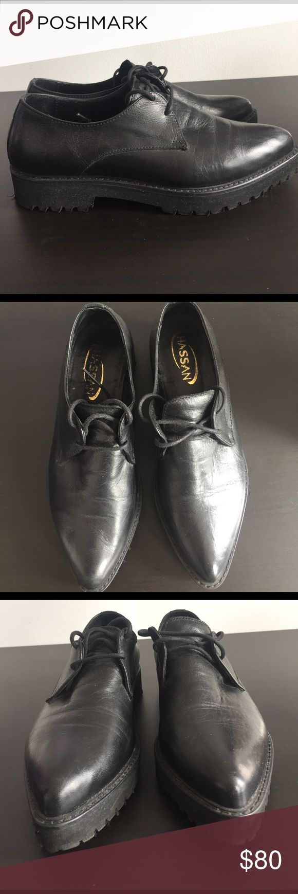 Hassan Italian loafers Italian genuine leather black shoes. Extremely comfortable and great for spring/fall weather. Open to offers. hassan Shoes Flats & Loafers