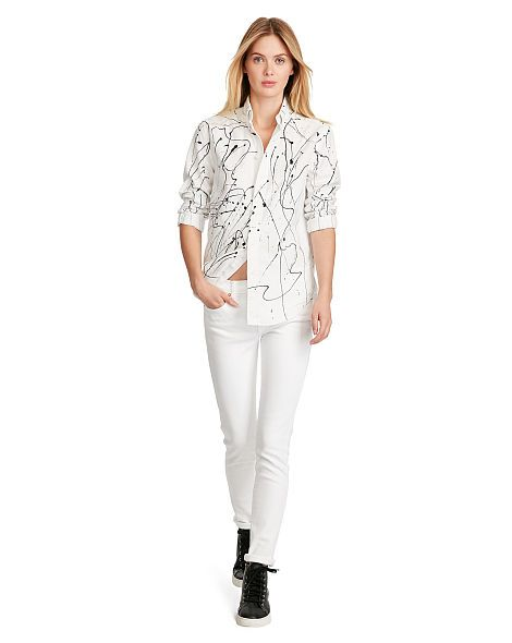 Relaxed Painted Oxford Shirt - Long Sleeve Shirts & Blouses - Ralph Lauren France