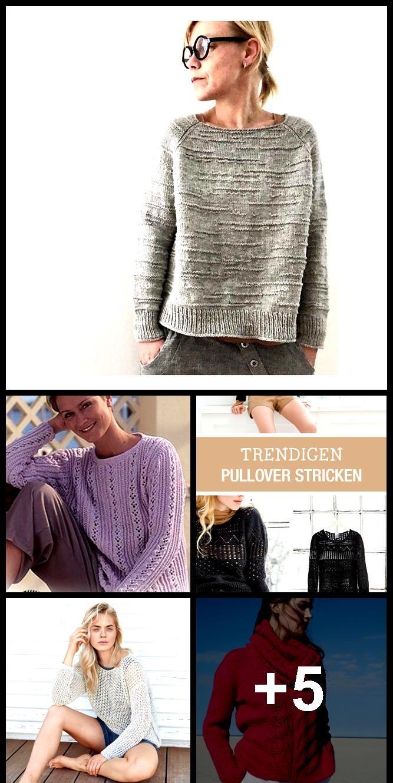 strickmuster für einen luftigen netzpullover  pullover