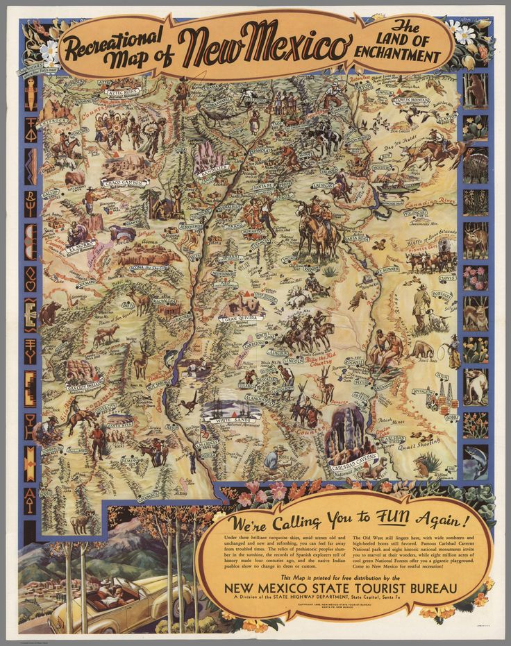 1946 Recreational map of New Mexico The