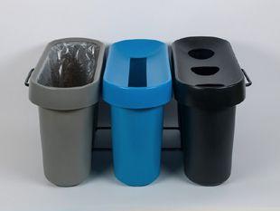 Une corbeille de tri 3 bacs à composer en fonction des déchets à collecter http://www.selectibox.com