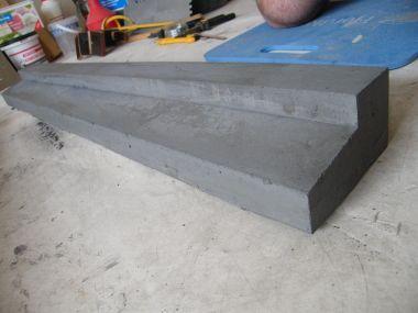 Dorpel zelf maken van beton met kleurstof