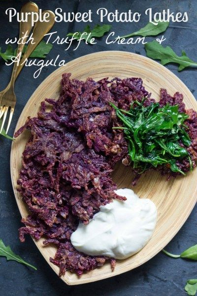 Purple Sweet Potato Latkes