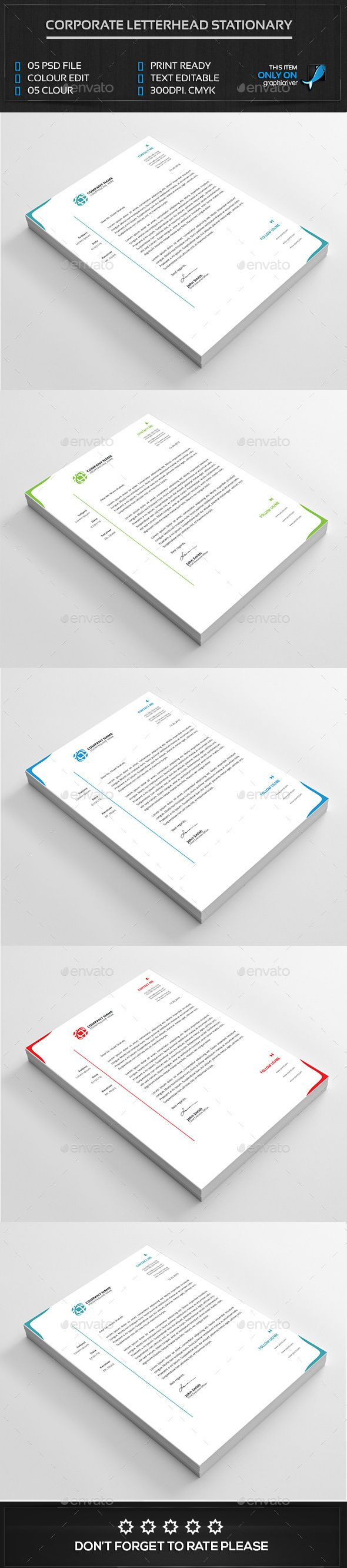 #Corporate Letterhead Design.Download here: http://graphicriver.net/item/corporate-letterhead-design/14681220?ref=arroganttype