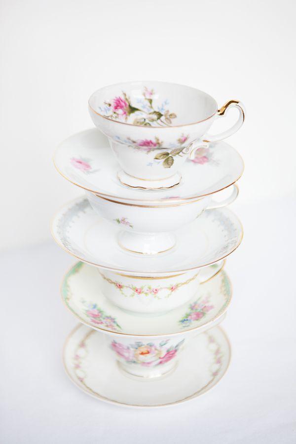 Vintage teacup rental / floral china rental / mismatched china nyc / tea party bridal shower  sc 1 st  Pinterest & 12 best Vintage China Plate Rentals in New York City images on ...