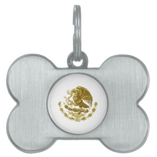 Mexican coat of arms pet name tags
