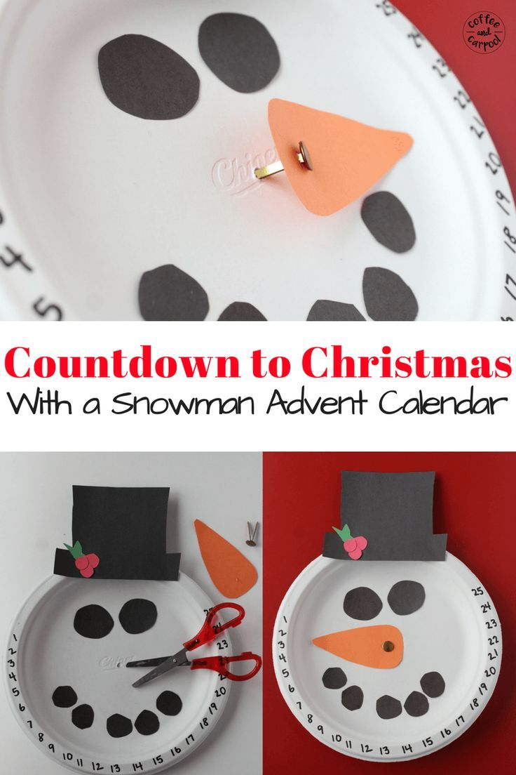 Countdown to Christmas with this Christmas craft snowman advent calendar. www.coffeeandcarpool.com