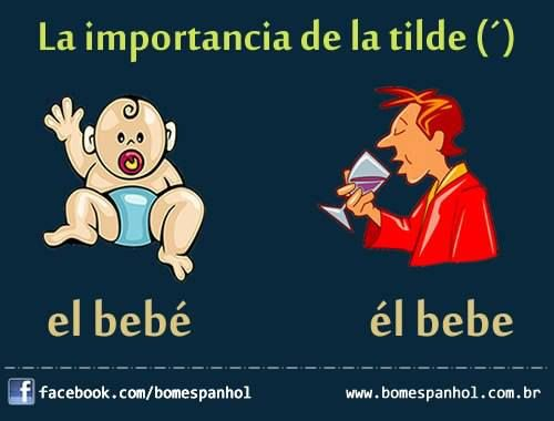 """La importancia de la tilde""...too bad that's an accent mark and NOT a tilde!"