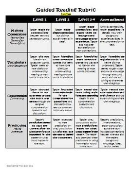 Guided Reading Assessment Rubric and Student Grid for Marking - Wise Guys - TeachersPayTeachers.com