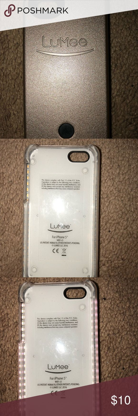 LuMee IPhone 5/5s case It's a rose gold light up case. Charger isn't included but it's a cheap one you can find on amazon. LuMee Other