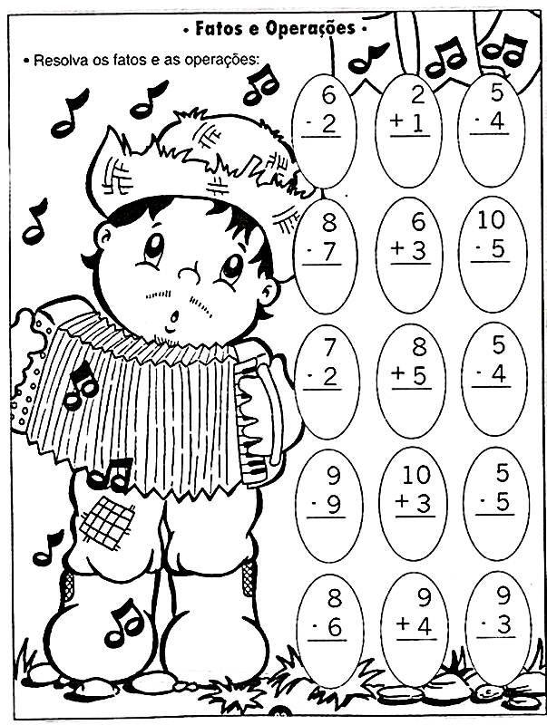 Educacao Infantil Atividades De Portugues E Matematica Com O Tema
