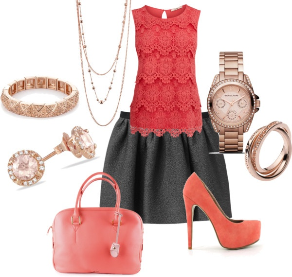 Coral Work Clothes By Torirasberry On Polyvore My