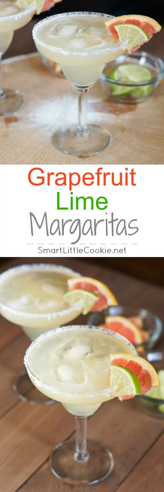 Grapefruit Lime Margaritas | http://SmartLittleCookie.net