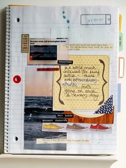 Graph print- check, woodgrain- check!!! Julie Kirk's new crafty notebook is TRULY SMASHING!