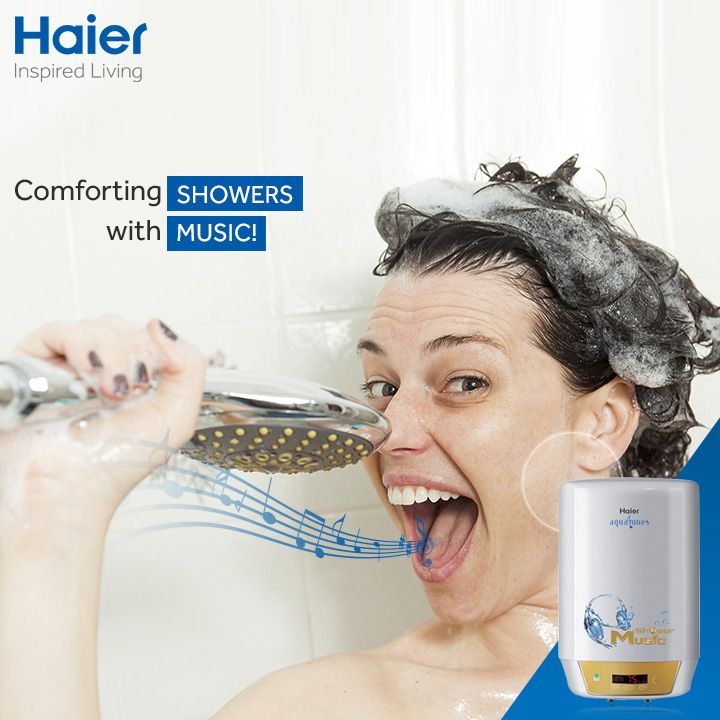 #Monsoons made more relaxing with #Haier's #musical #WaterHeater. The water heater's ultra micro coated tank protects the tank from corrosion and ensures uninterrupted supply of warm water.