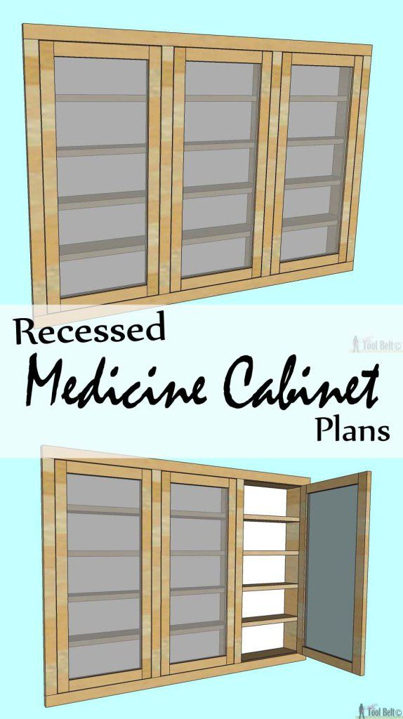 medicine cabinet plans free woodworking projects plans