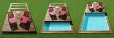 Cubierta para piscina de botón / de madera ROLLING DECK PISCINELLE