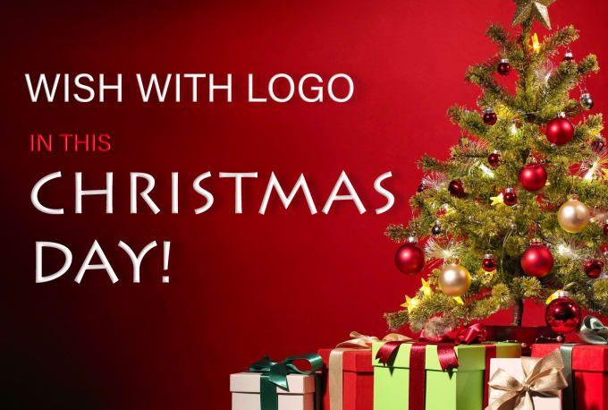 Make Christmas Video Wish With Your Brand Logo Merry Christmas Wishes Christmas Wishes Christmas Gif