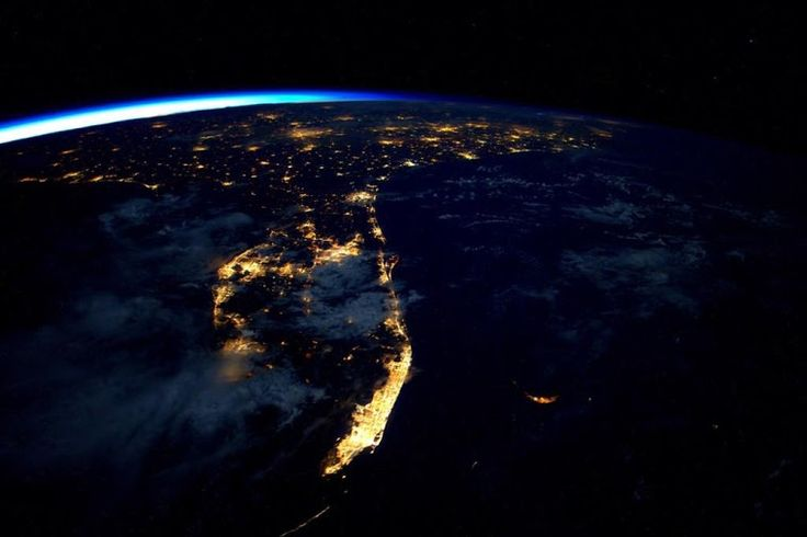 Florida at night. By friends of NASA international space ...