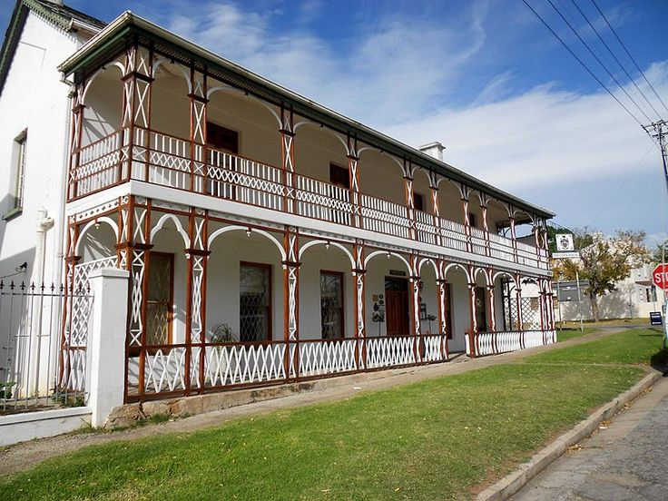 Cock House, 10 Market Street, Grahamstown, South Africa. Had Christmas lunch there in 1994.
