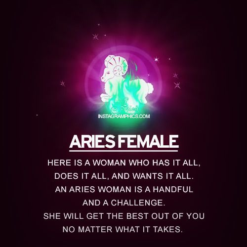 Aries Female Personality Graphic