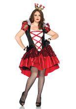 Märchen Königin Damenkostüm Übergrösse rot-schwarz-weiss, aus unserer Kategorie Märchenkostüme. Die Königin des Märchenlandes herrscht mit großer Güte über ihre Untertanen und ist sehr beliebt. Falls Sie schon immer nach höherem gestrebt haben, sollte Ihnen der Posten der Fantasy Königin zusagen. Ein tolles Kostüm für Karneval und Märchen Mottopartys.