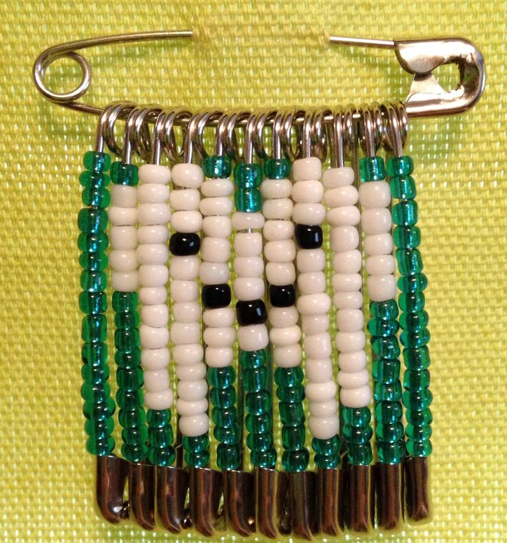 Beaded safety pin tooth! Cute!