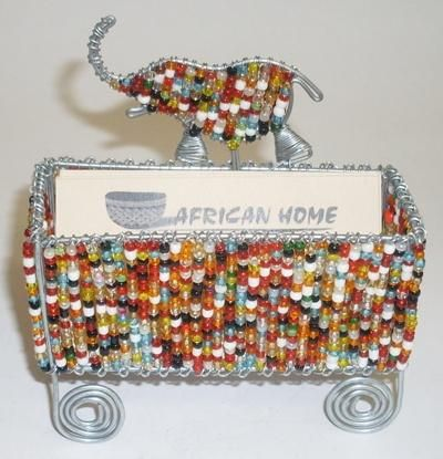 66 best creative corporate gifts images on pinterest corporate african home wire bead business card holder big 5 reheart Gallery