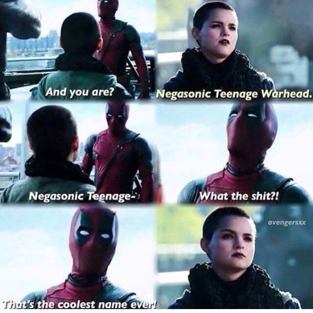 Negasonic Teenage Warhead! XD HAHAHA!!! I so love this movie!