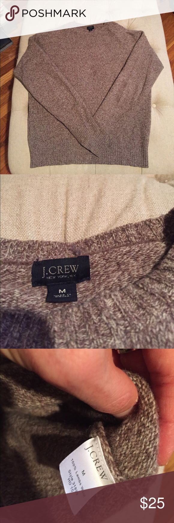 Men's JCrew Lambswool Sweater Selling a men's JCrew Lambswool Sweater. Color is light beige/tan. EUC. Size medium. No stains or holes, smoke free home. J. Crew Sweaters Crewneck