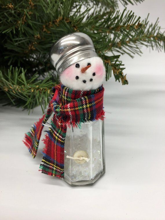 Salt Shaker Snowman Christmas Decoration Winter
