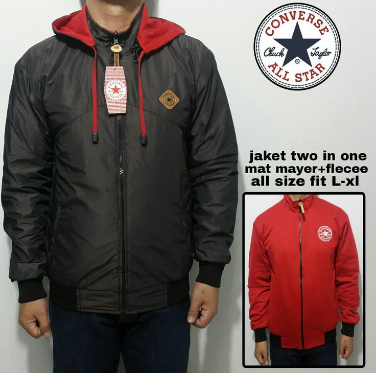 Jaket two in one Bhan mat mayer+flece All size fit L-XL WA:082386347597