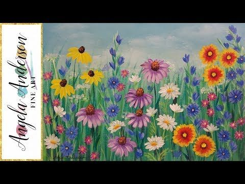 938 best painting lessons images on pinterest for Step by step acrylic painting flowers for beginners